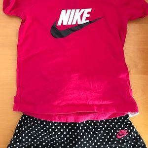Girls Nike Skirt Set